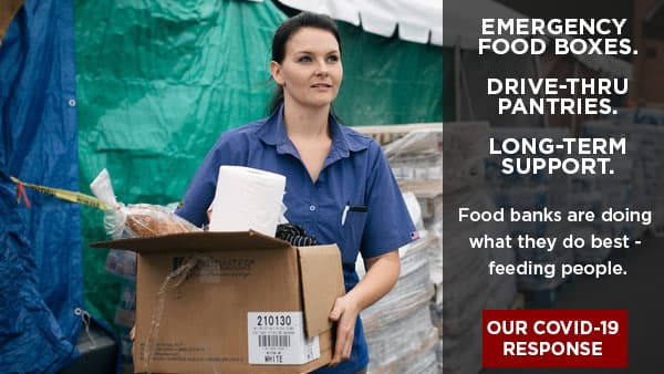 Food banks are doing what they do best - feeding people.